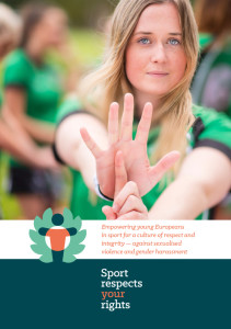 Sport respects your rights project brochure front cover
