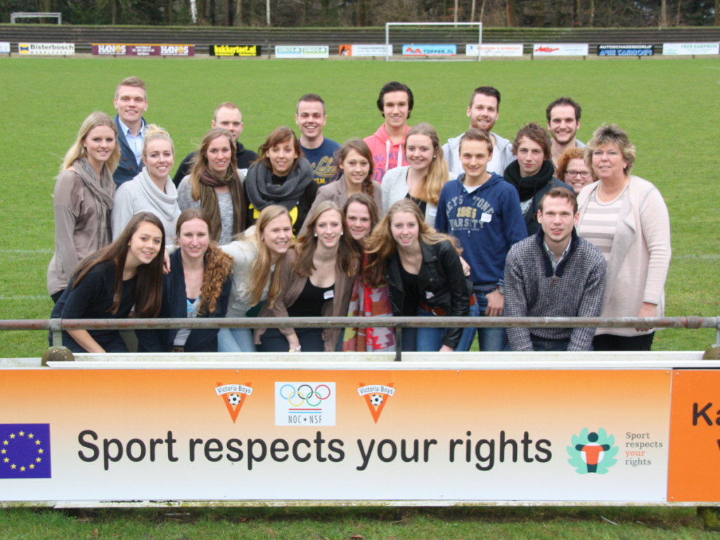 Workshop participants at Victoria Boys football club, February 2014, Apeldoorn, The Netherlands. Photo: NOC*NSF